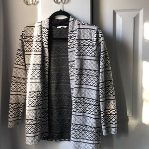 H&M Tribal Print White & Black Blazer- Small
